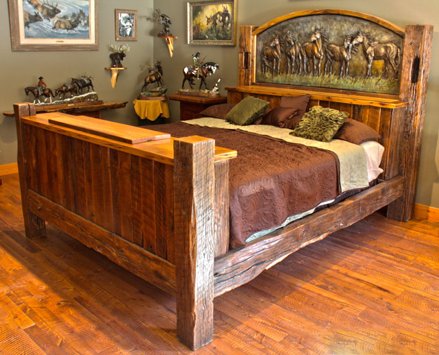new additions 10969 | rustic bed